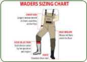 Fishing Waders Sizing Charts