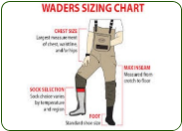 Sizing Chart For Waders